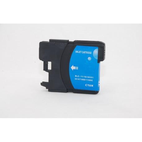 Brother LC-980/LC-1100 azurová (cyan) kompatibilní cartridge