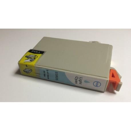 Epson T0805 světle azurová (light cyan) kompatibilní cartridge