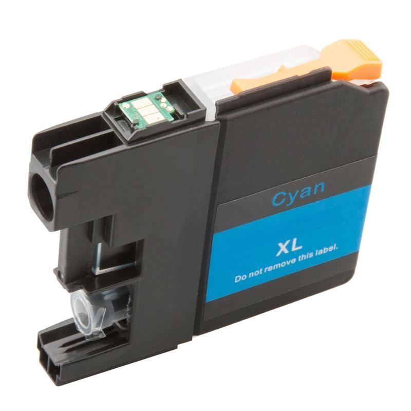 Brother LC-3219XLC (LC-3219C, LC-3217, LC-3217C) modrá (cyan) - kompatibilní inkoustová náplň (cartridge)